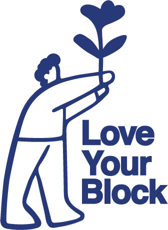 Graphic of Love Your Block logo